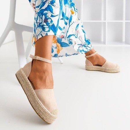 Бежевые женские эспадрильи на платформе Maritel - Обувь
