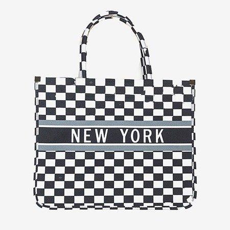 Большая женская сумка-шоппер в клетку - сумки