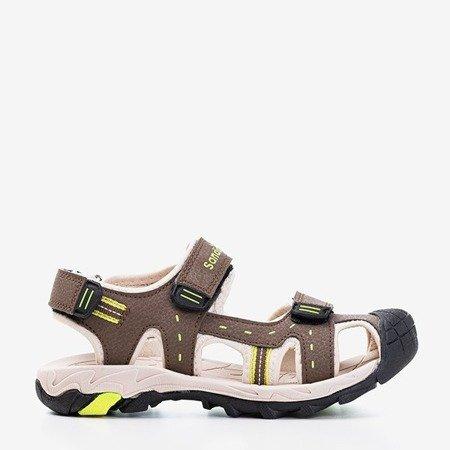 Детские коричневые спортивные сандалии с бежевыми вставками Krifia - Обувь
