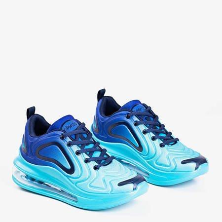 Женская спортивная обувь бирюзового цвета с прозрачной подошвой Fusion - Обувь