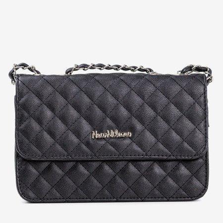 Женская черная стеганая сумка-мессенджер - Сумки