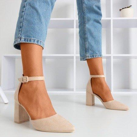 Женские бежевые сандалии на высокой шесте Raviola - Обувь