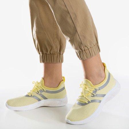 Женские желтые спортивные туфли с глянцевой поверхностью Epiphania - Обувь