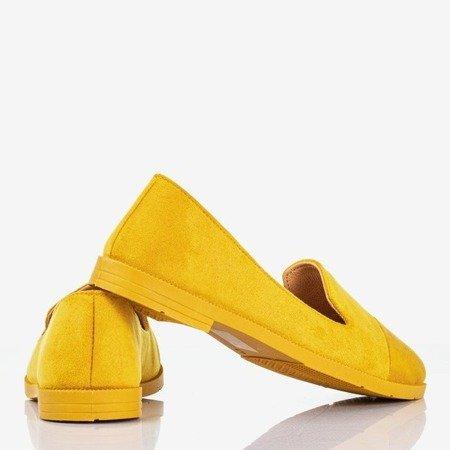 Женские мокасини желтого цвета с декоративным тиснением Lopsa - Обувь