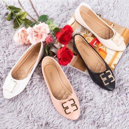 Женские розовые балетки с орнаментом на носке Rionach - Обувь