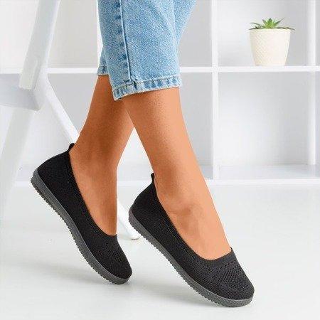 Женские черные слипоны Wlora - Обувь