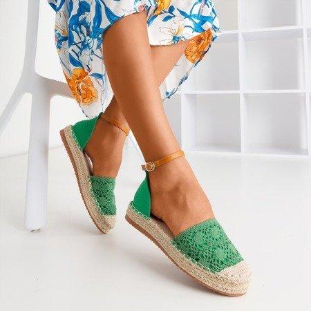 Зеленые эспадрильи с ажурным верхом Asti - Обувь