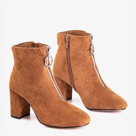Коричневые женские сапоги на стойке Veluwa - Обувь