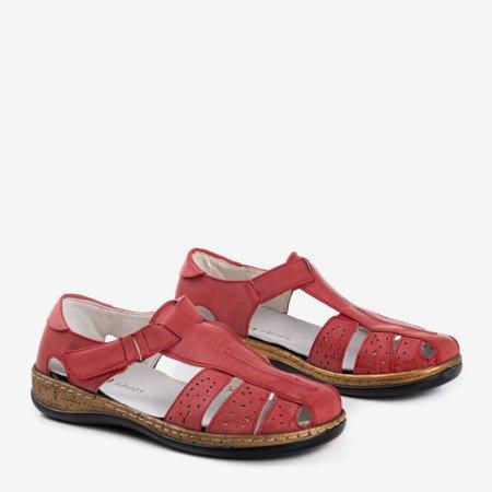 Красные женские сандалии с вырезом «Кабина» - обувь
