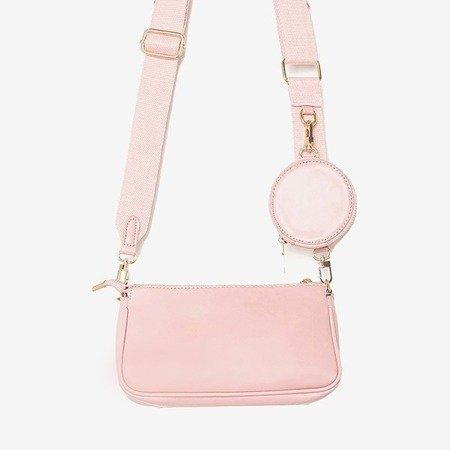 Маленькая женская сумочка-тройка розового цвета - Сумочки