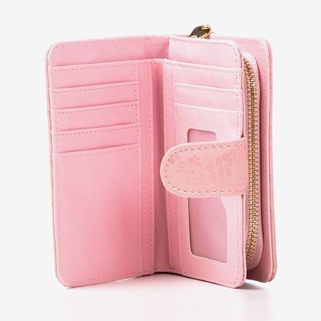 Маленький женский кошелек с рисунком в розовом цвете - Кошелек