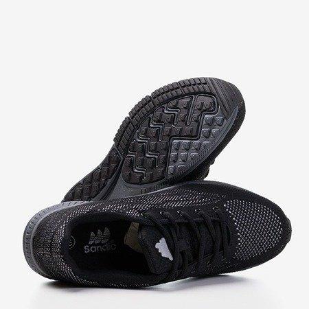 Мужские черные кроссовки с серой отделкой Erol - Обувь