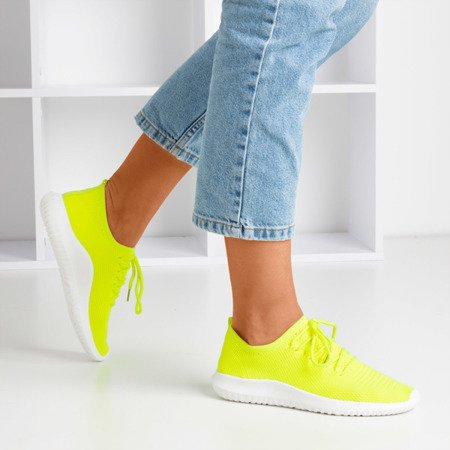 Неоново-желтые женские спортивные туфли Noven - Обувь
