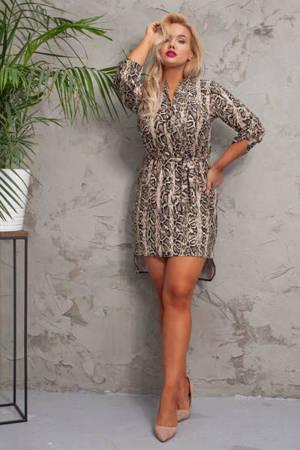 Свободное платье из змеиной кожи для женщин - Одежда