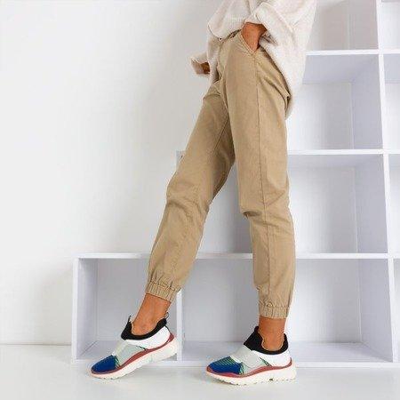 Серые спортивные туфли с цветными вставками Mendora - Обувь
