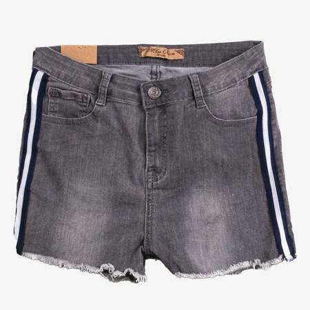 Серые шорты с боковыми полосами - Одежда