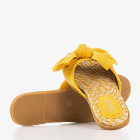 Тапочки женские желтые с бантом Ревда - Обувь