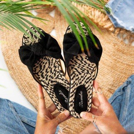 Тапочки женские черные с бантом Ревда - Обувь