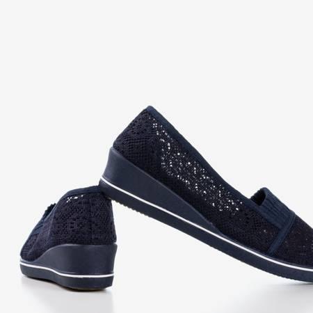 Темно-синие кроссовки на низкой танкетке Faser - Обувь