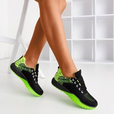 Черная и зеленая женская спортивная обувь Fonto - Обувь