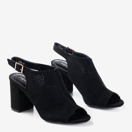 Черные ажурные сандалии на более высокой стойке Solana - Обувь