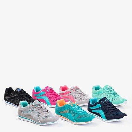 Черные женские спортивные туфли с темно-синими вставками Kannasi - Обувь