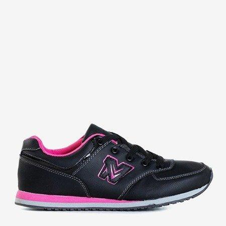 Черные кроссовки с розовыми вставками Mikus - Обувь