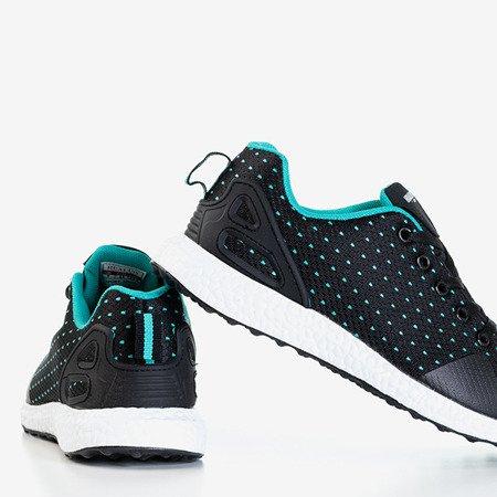 Черные мужские туфли с мятными вставками Arber - Обувь