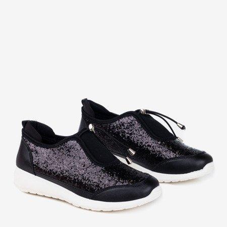Черные спортивные туфли с блестками Likera - Обувь