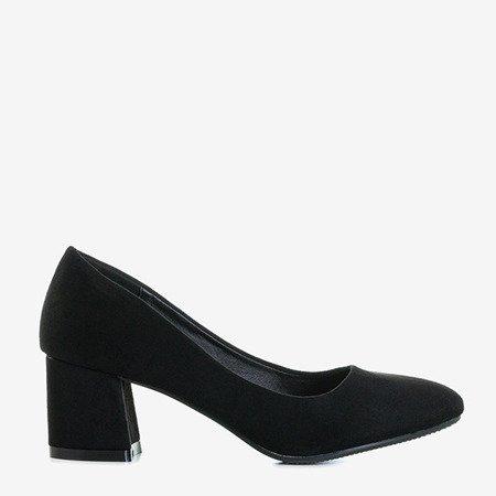 Черные туфли-лодочки на невысокой стойке Peoliu - Обувь