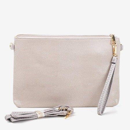 женская серая маленькая сумочка с тиснением животных - Сумочки