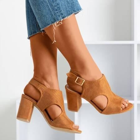 женские коричневые сандалии на верхней стойке с верхом Itemsa - Обувь