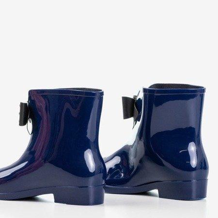 женские резиновые сапоги темно-синего цвета с бантом Maiya - Обувь