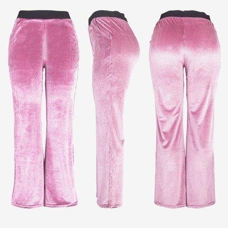 женские розовые прямые брюки - брюки