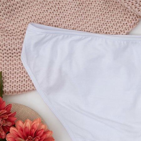 Белые женские трусы из хлопка PLUS SIZE - Нижнее белье