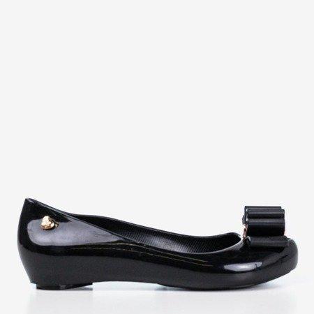 Black Meliski с бантом Tyrika - Обувь