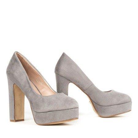 OUTLET Серые туфли-лодочки на стойке Cerelia - Обувь
