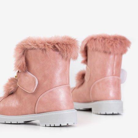 Розовые женские зимние сапоги на меху Enila - Обувь