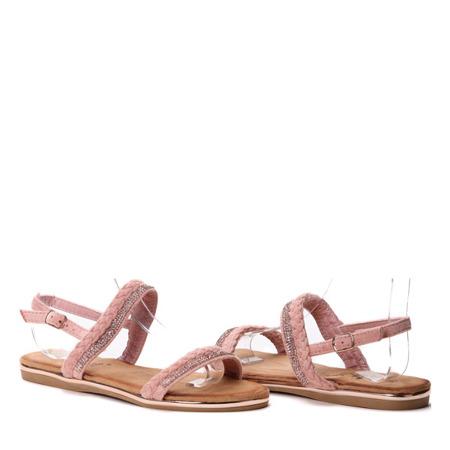 Różowe sandały z cyrkoniami Zammena - Obuwie