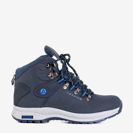 Темно-синие женские утепленные ботинки Inesa - Обувь