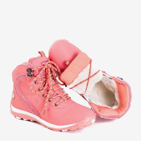 Женские коралловые сапоги со снежинками Flander - Обувь