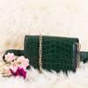 Женская зеленая сумка-почк - Сумки
