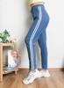 Синие спортивные штаны с полосками - Одежда