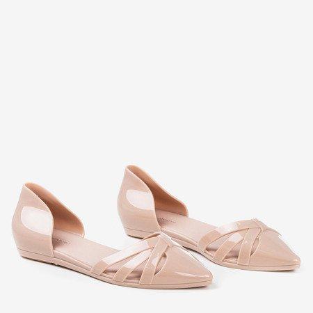 Бежеві балетки для жінок з гуми Favoli - Взуття 1