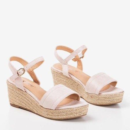 Бежеві босоніжки на клині Polianna - Взуття 1