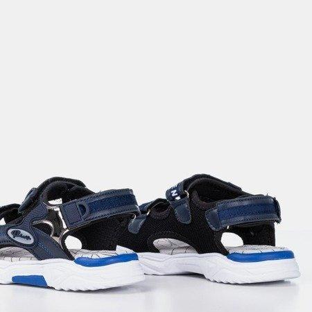 Босоніжки темно-сині для хлопчиків із застібкою-липучкою Nice - Взуття
