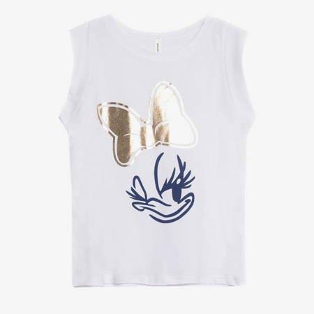 Біла жіноча футболка з принтом Дейзі - Одяг 1
