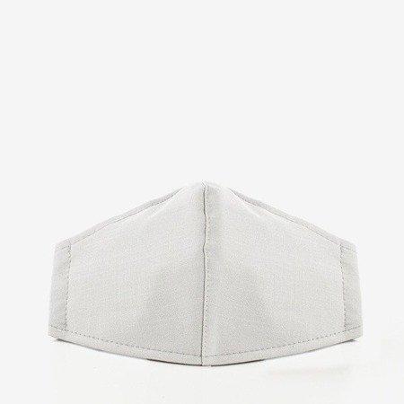 Біла тришарова маска для обличчя з смугастим захистом - Маски 1