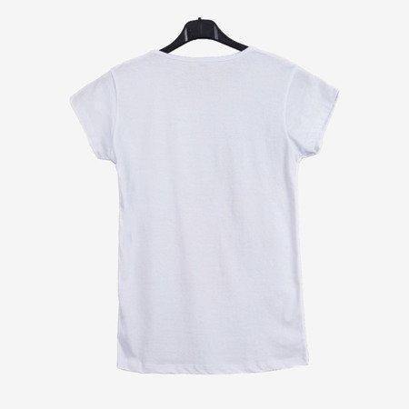 Біла футболка з короткими рукавами - Блузки 1