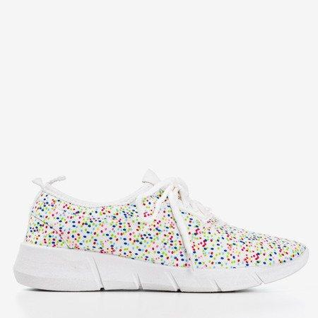 Біле жіноче спортивне взуття з візерунками Clovta - Взуття 1